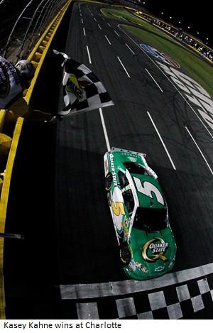 2012 Charlotte May NASCAR Sprint Cup Series Race Finish Line Kasey Kahne