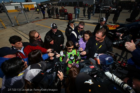 Daytona 500 qualifying danica patrick media